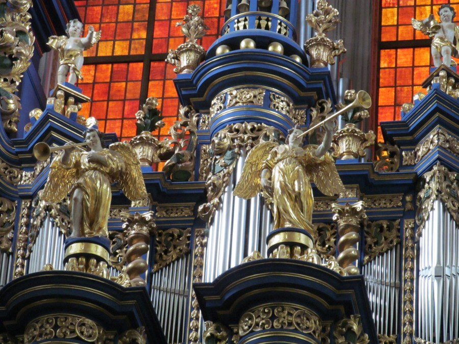Organ detail, Pilgrimage Church Our Dear Lady of Swieta Lipka. Photograph by Linda Thomas.