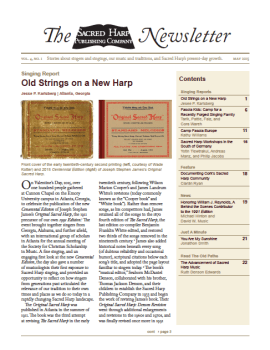 Printable version of the Sacred Harp Publishing Company Newsletter, Vol. 4, No. 1 (2.3 MB PDF).