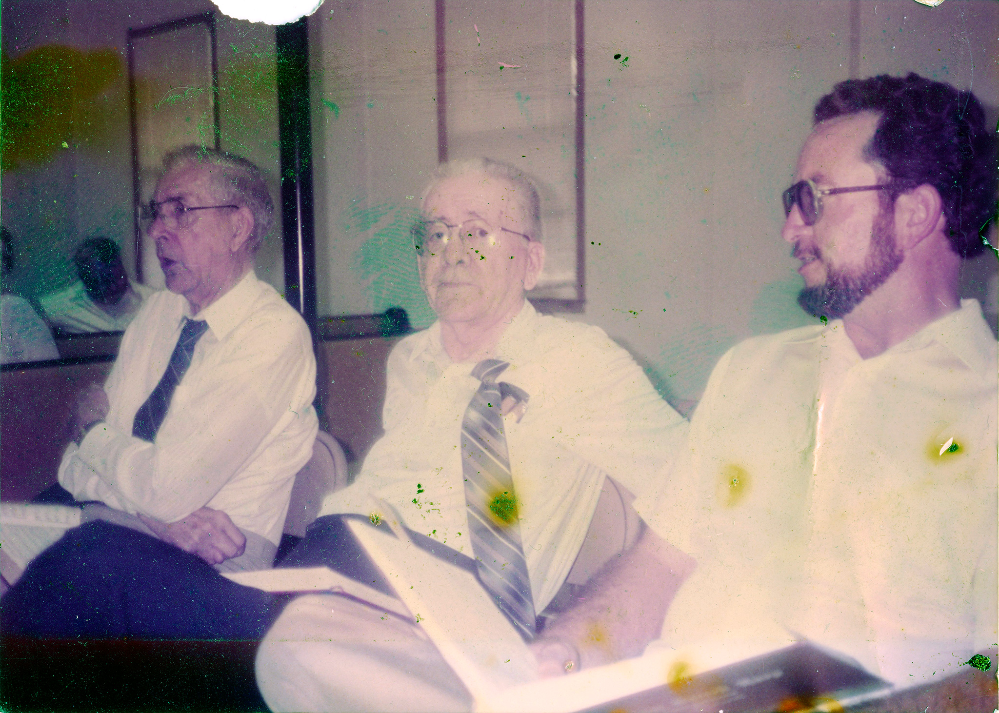raymond c hamrick s contributions to sacred harp singing and raymond c hamrick horace hamrick and oscar mcguire at a sacred harp singing in 1988 courtesy of patti hamrick dancy