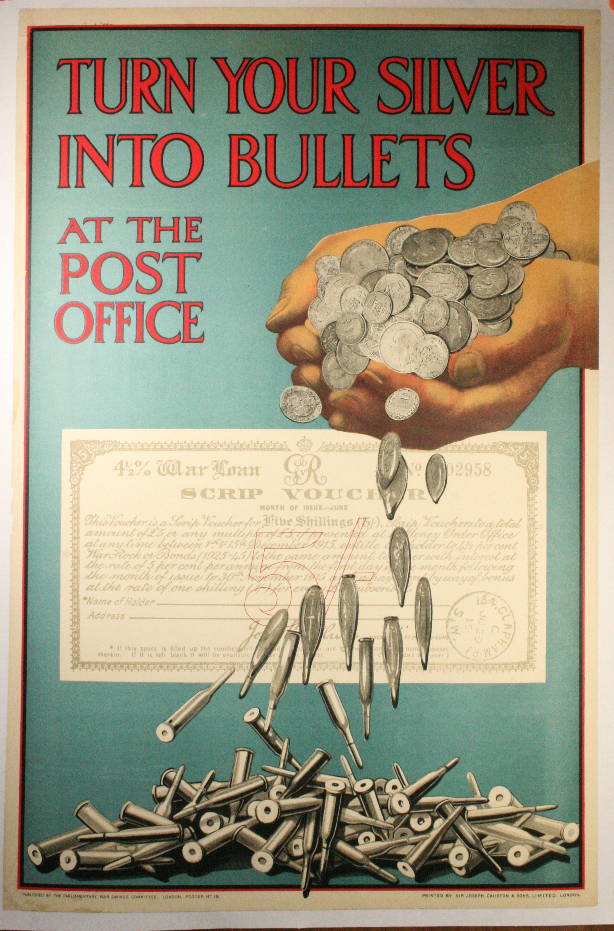 Ww1 Savings Bond Poster Turn Your Silver Into Bullets