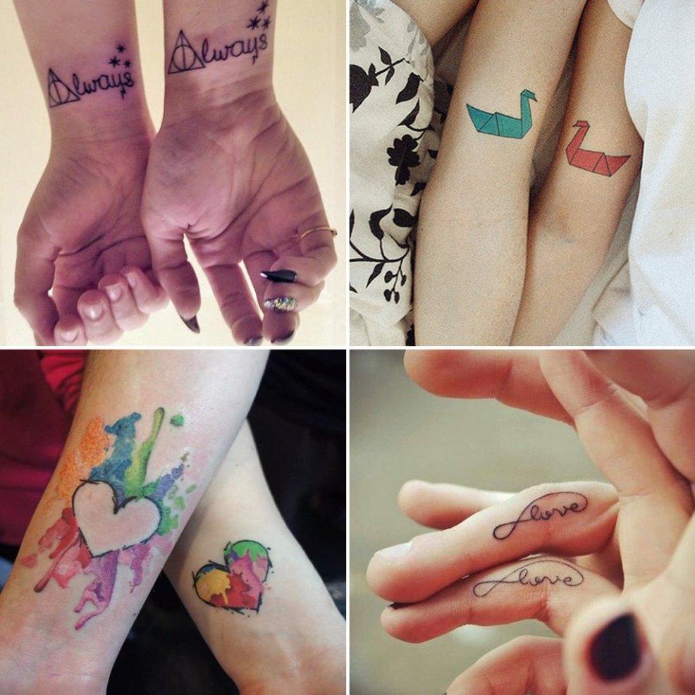 парные татуировки для двоих влюбленных идеи и фото