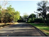 The road towards the lab building