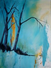 """Mary Tritschler """"A chink of light through the trees"""" - Oil on linen - 160x120cm"""