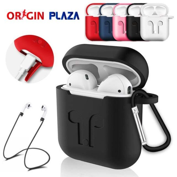 Soft silicone case protective cover for AirPods originplaza