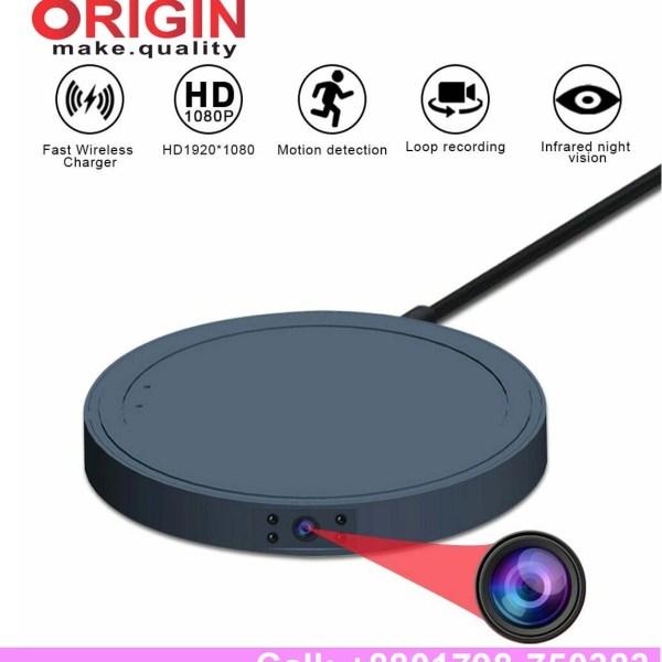Spy Mini Wireless Charger Sensor camera