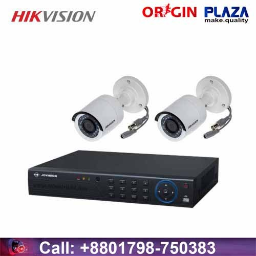 HIKVISION 2 unit night vision security cc camera Package price in bd