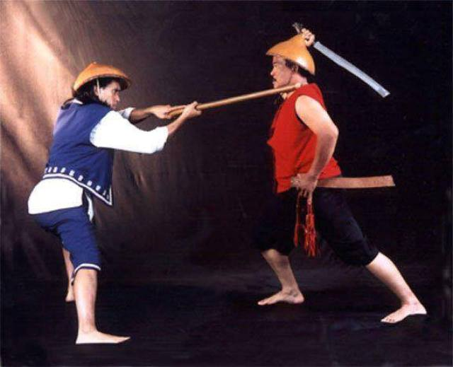 Orihinal Eskrima Virgil Apostol with uncle Jessie Dancel
