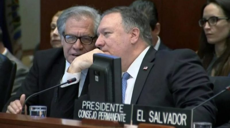 Almagro in climax: Legendary level. Pompeo: This stupid mexican is going to do whatever we ask him