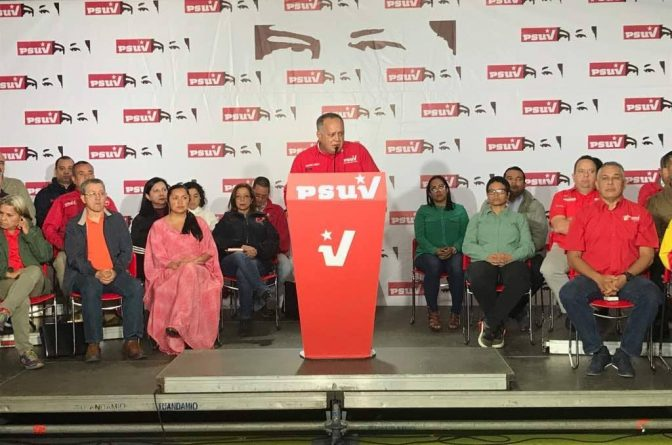 * Diosdado Cabello: Our main problem and our main front is the economic one