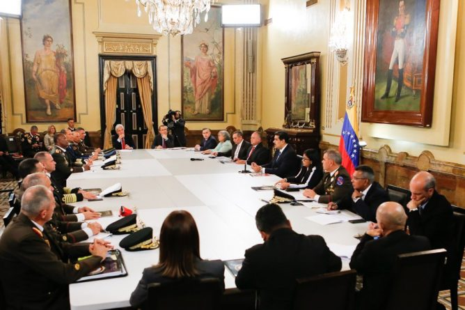 President Maduro Declared the Council of National Defense in Permanent Session