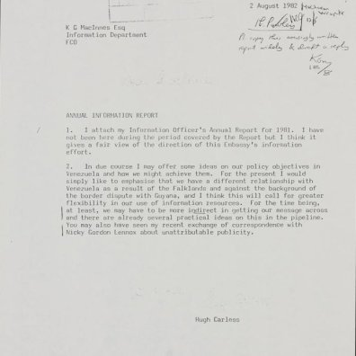 Evidence Nelson Bocaranda Was Paid UK Propagandist During Malvinas (Falklands) War