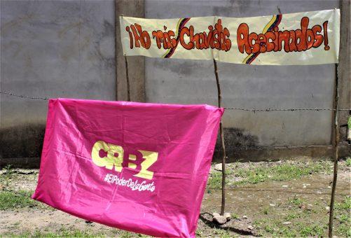 The social media hashtag #NoMásChavistasAsesinados (NoMoreKillingsOfChavistas) was used by the Bolivar and Zamora Revolutionary Current (CRBZ) to denounce the killings and demand justice for the assassinated militants. (Katrina Kozarek / Venezuelanalysis.com)