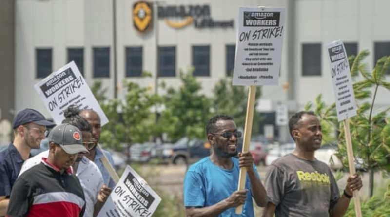 """We are not robots!"" Amazon Workers and Their Supporters Stage Strikes and Protests Worldwide"