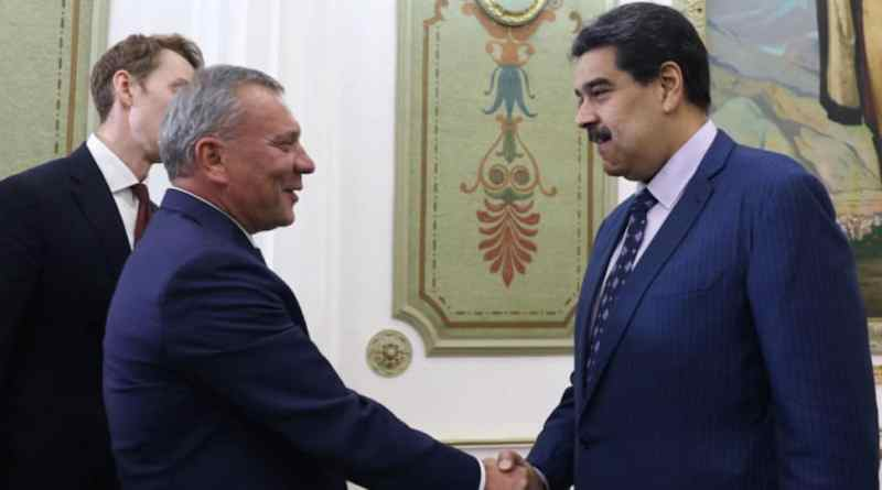 Maduro Meets with Russian Deputy Prime Minister Yuri Borisov (Images)