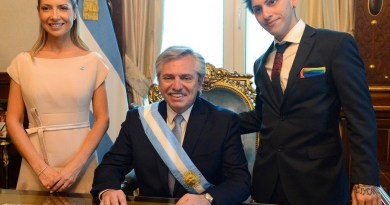 New Argentine President's Drag Queen Son Rocked a Rainbow Flag Pocket Square at the Inauguration This Week