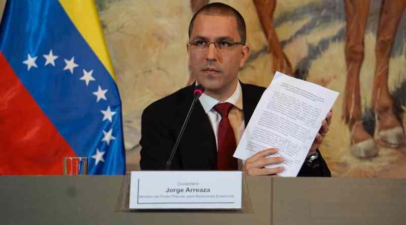 Foreign Minister Arreaza: Facing US Interference, Venezuela Ratifies its Call for Dialogue (US Sanctions)