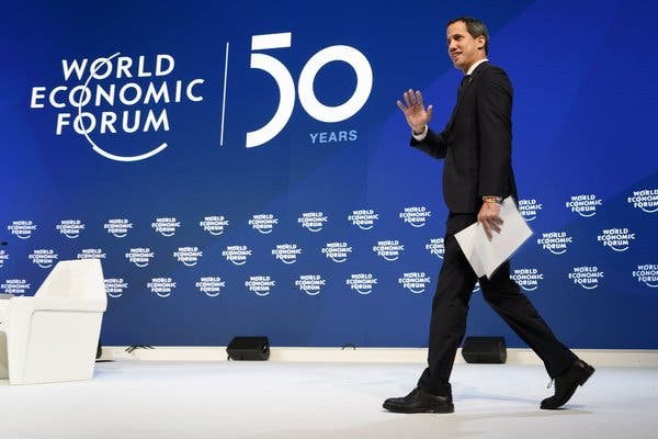 New York Times Highlights Guaidó's Failure in Davos