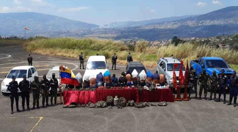14 Members of Colombian Paramilitary Band Los Rastrojos Captured in Táchira