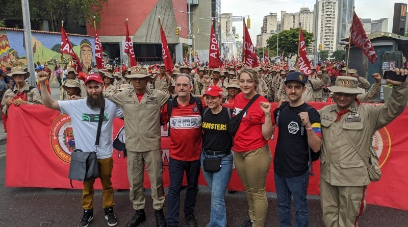 FRSO Labor Delegation Joins Venezuelan March Defending the Bolivarian Government