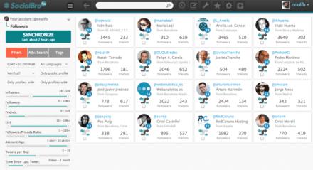 Seguidores activos e influentes de twitter en socialbro