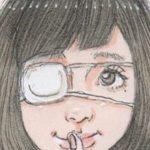 アナログ手書きイラストの修正/「内緒」女の子イラスト
