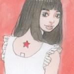 【女の子イラスト】うさ耳の女の子アナログイラスト