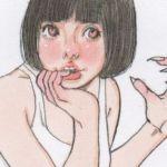 【女の子イラスト】タイトスカートとパンプスのアナログイラスト