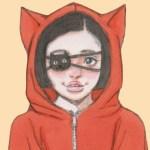 【女の子イラスト】コピックで猫耳パーカーのアナログイラストを描いてみた