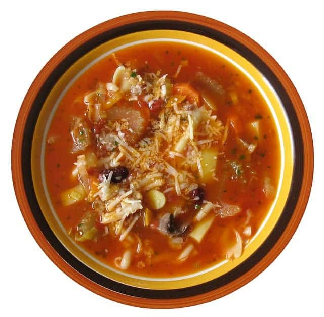 Minestrone Soup: 68 cents per serving