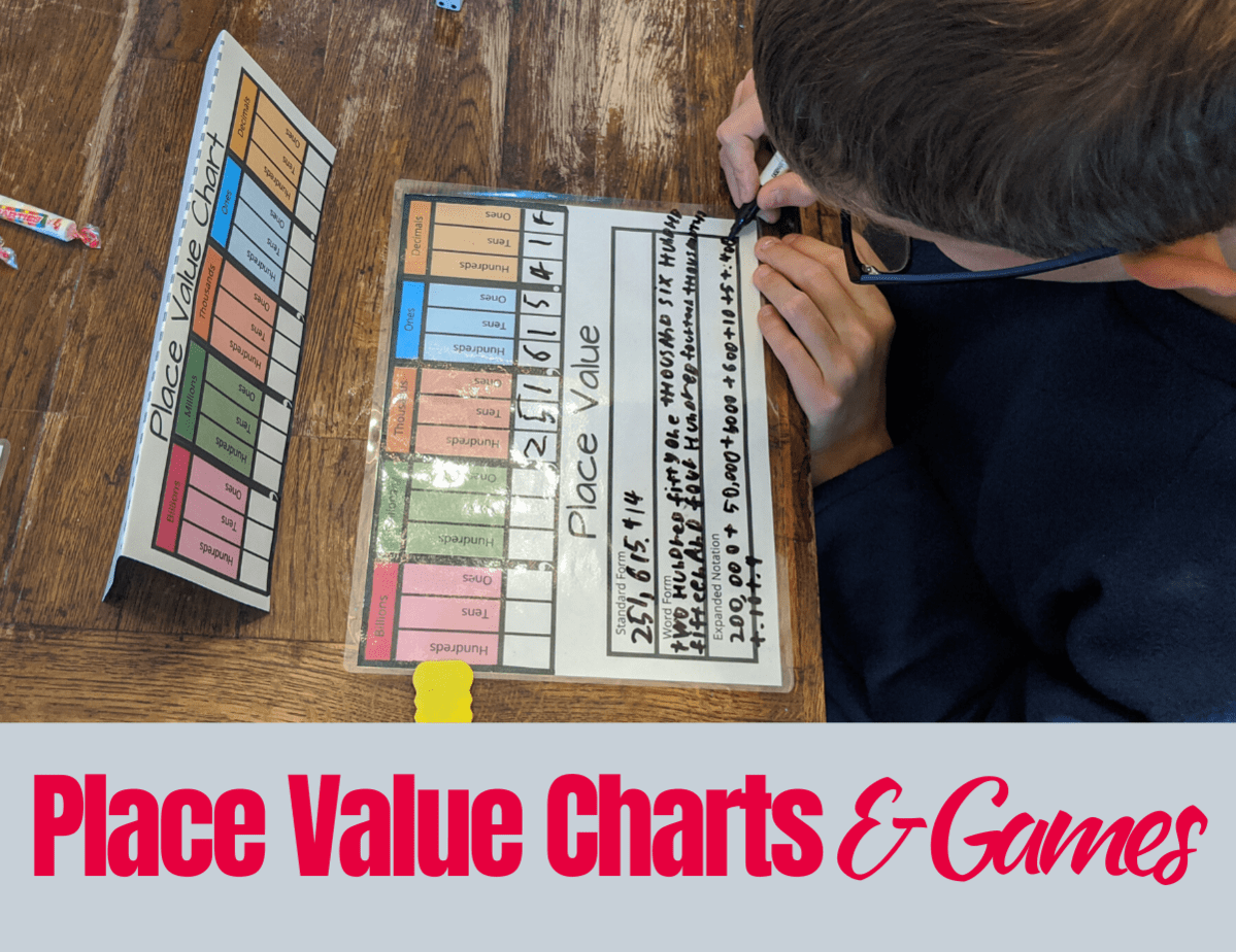 Place Value Chart Number Cards Amp Games