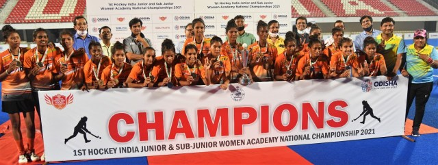 Pic 1st Hockey India Junior and Sub Junior Women Academy Nationals Championship 2021