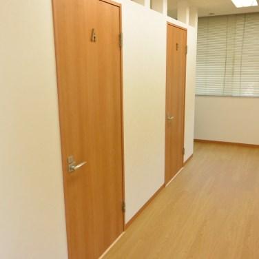 着替え室の入り口です。