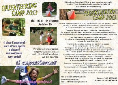 volantino orienteering camp 2013