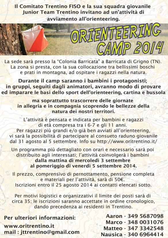 volantino orienteering camp 2014 - 2