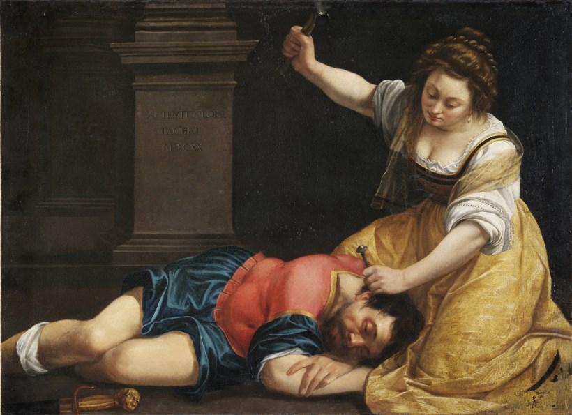 Jael and Sisera Artemisia Gentileschi