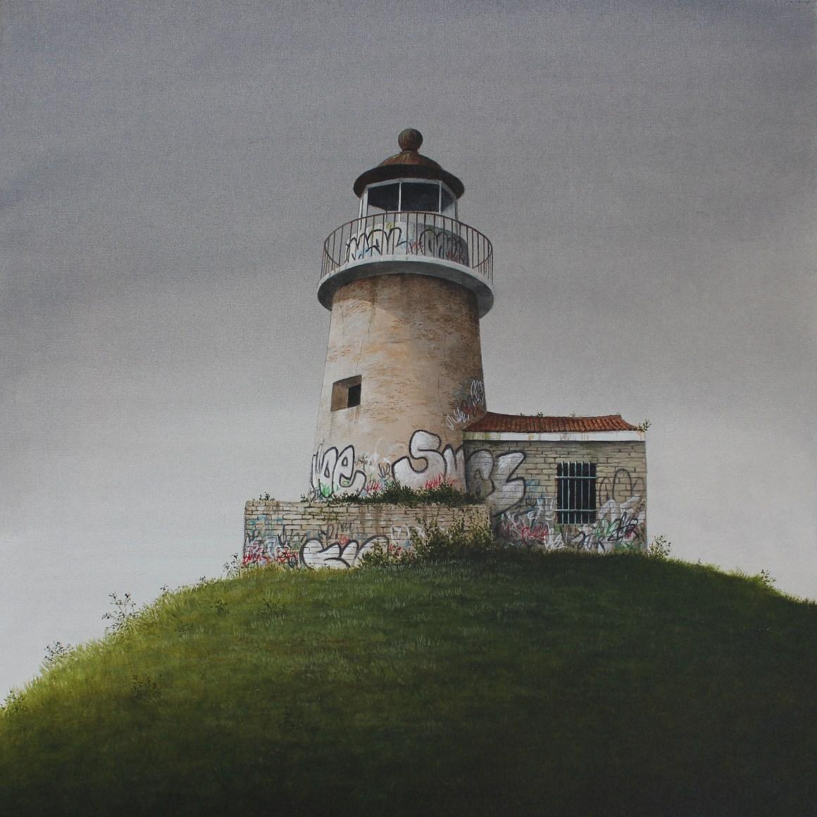 Lee Madgwick - The Lighthouse - 50 x 50cm - acrylic on canvas - 2017