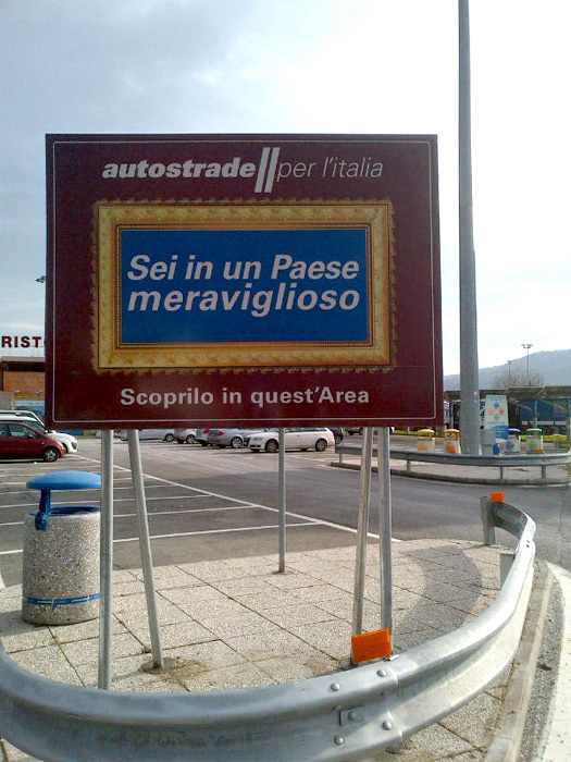 Cartellone Autostrade per l'Italia, Sei in un Paese Meraviglioso Sky Arte