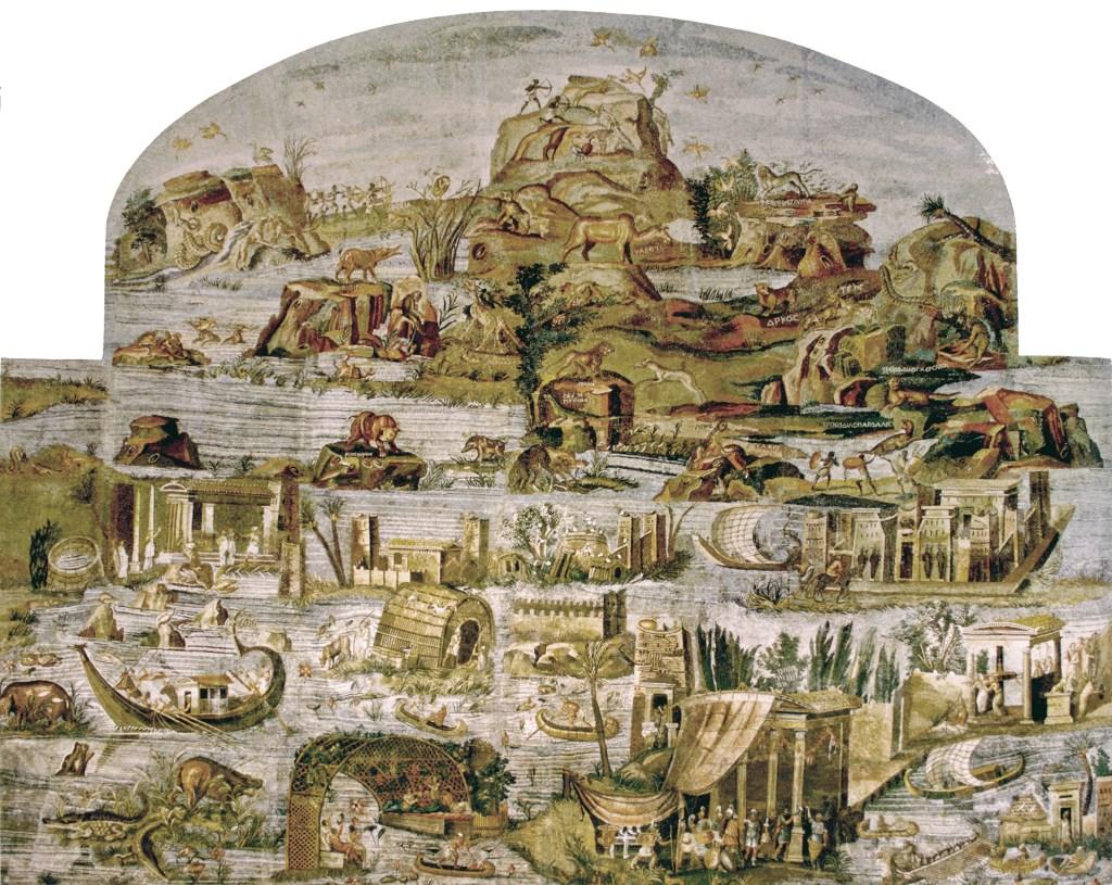 Mosaico del Nilo conservato nel Museo Nazionale Archeologico di Palestrina