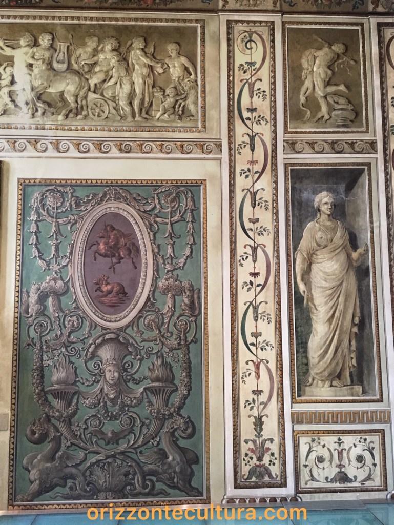 Decorazioni ispirazione pompeiana Palazzo Bonaparte, ph. Orizzonte Cultura