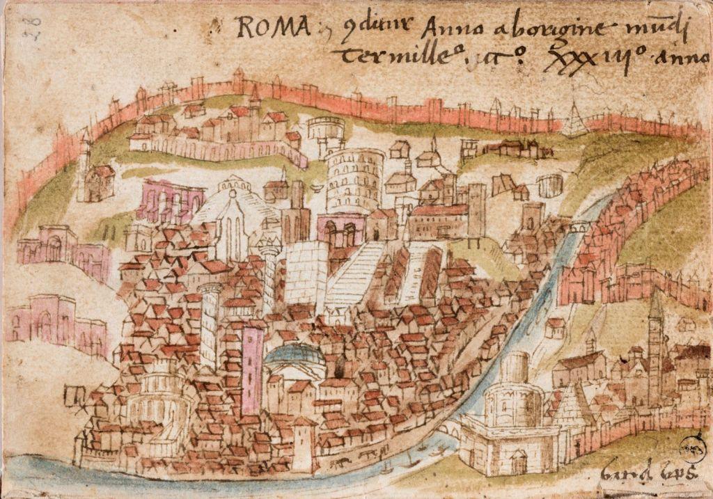 Anonimo, Veduta di Roma, Biblioteca Reale Torino, Luca Signorelli mostra Musei Capitolini
