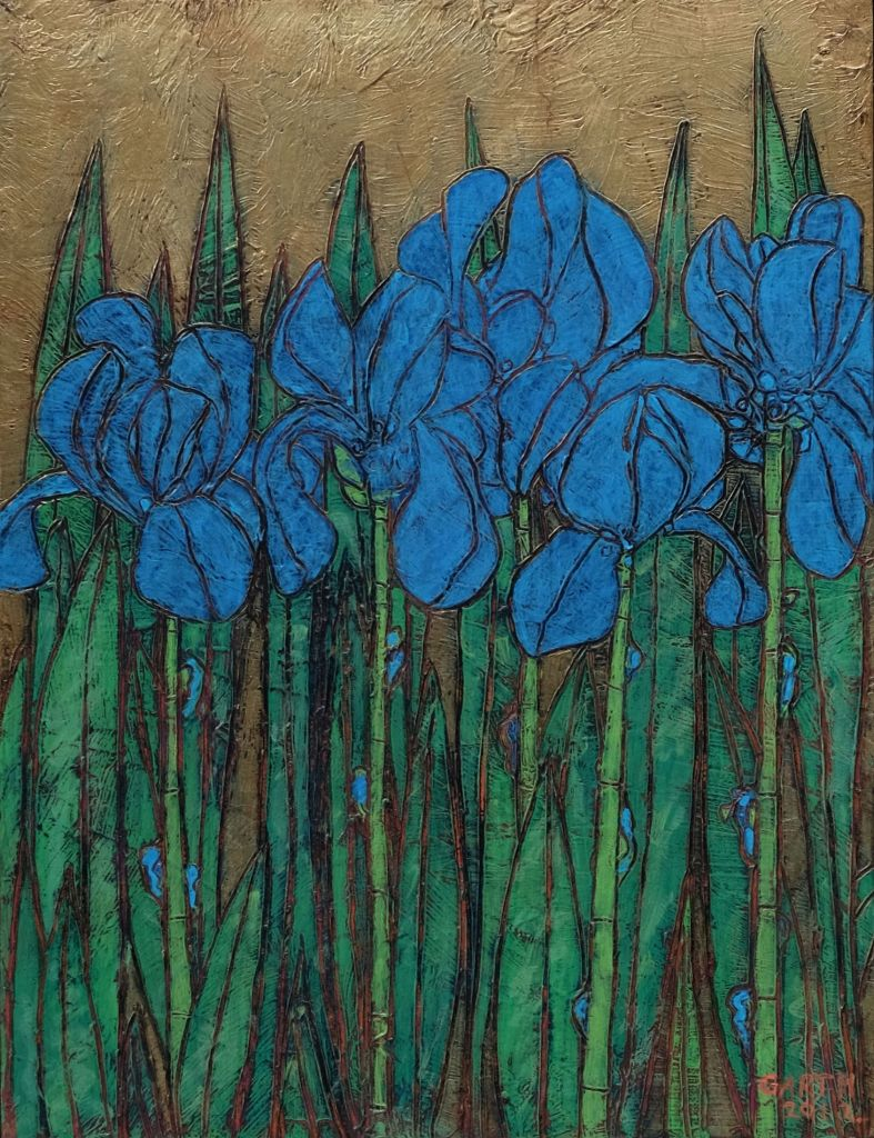 Garth Speight, Iris blu, Giardino Meraviglie Garth Speight mostra Roma