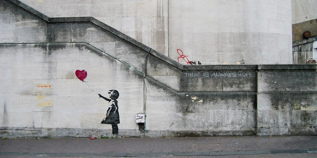 Banksy,  Girl with Balloon o There is Always Hope, Banksy 100 domande Andrea Concas