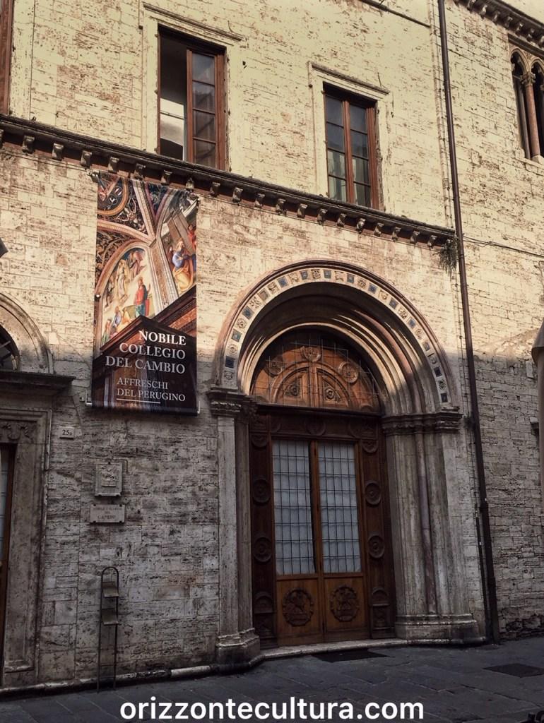 Ingresso del Collegio del Cambio Perugia, Visitare Perugia in 1 giorno