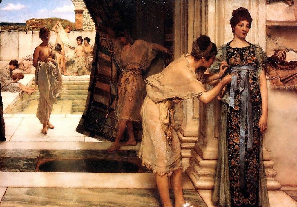 Donne romane nel frigidarium, Alma Tadema