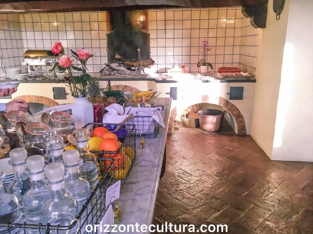 Colazione presso l'Hotel Certosa di Maggiano, Siena