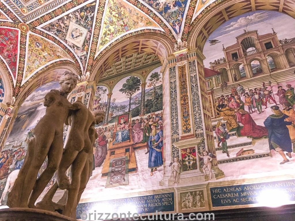 Libreria Piccolomini, dettaglio delle Tre Grazie