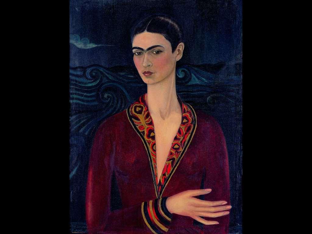 Frida Kahlo, Autoritratto con vestito di velluto, la donna nell'arte Frida Kahlo