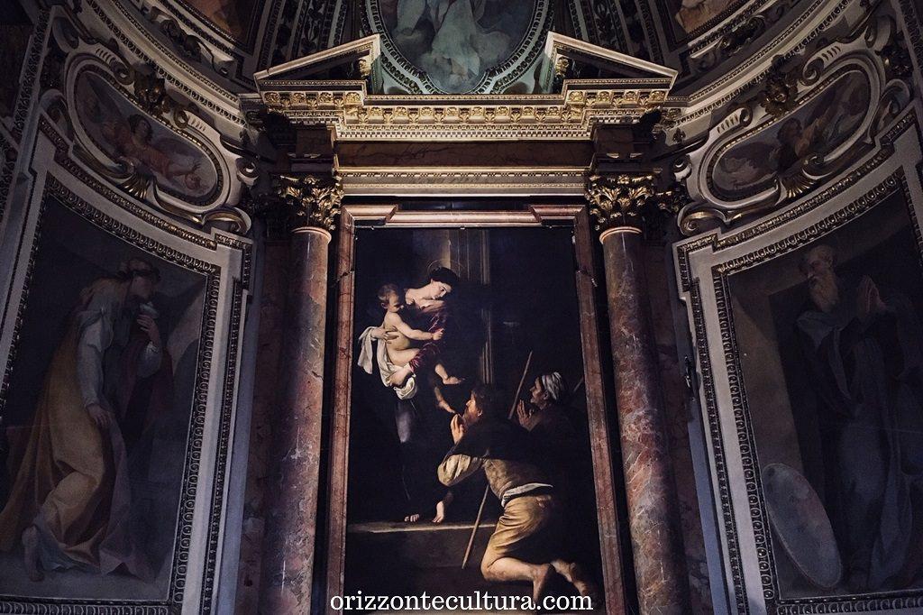 Caravaggio, Madonna dei Pellegrini, Chiesa di Sant'Agostino Roma, dove vedere opere Caravaggio gratis