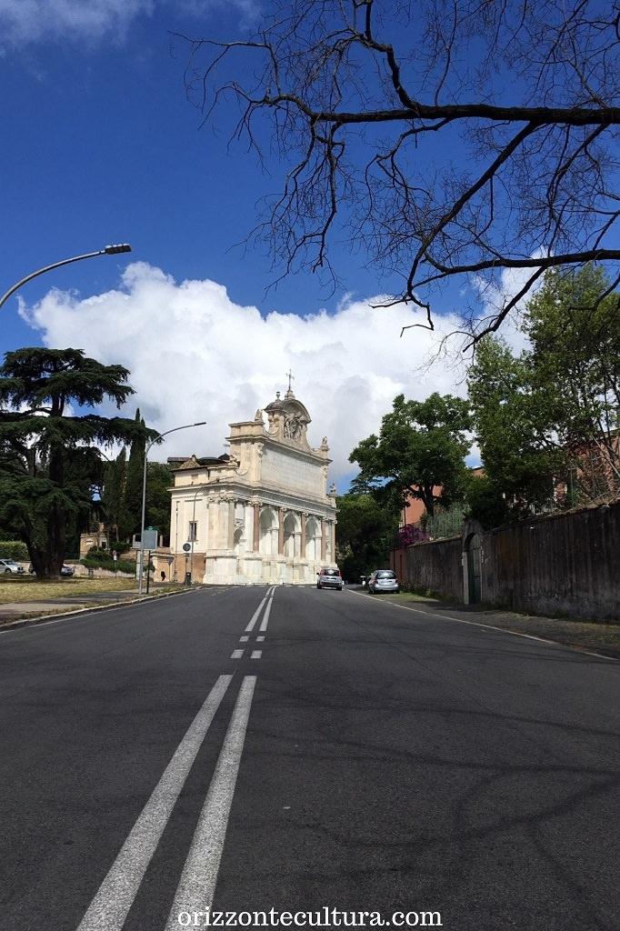 Via Garibaldi con in fondo il Fontanone, Gianicolo Roma