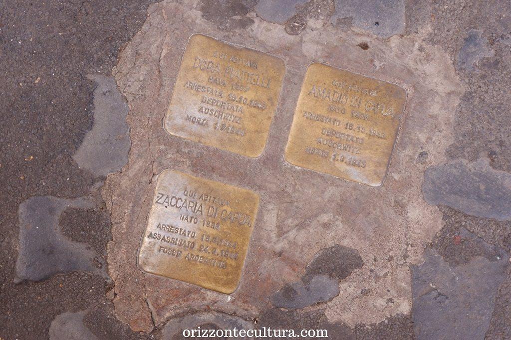 Le Pietre d'Inciampo su via della Reginella, Roma